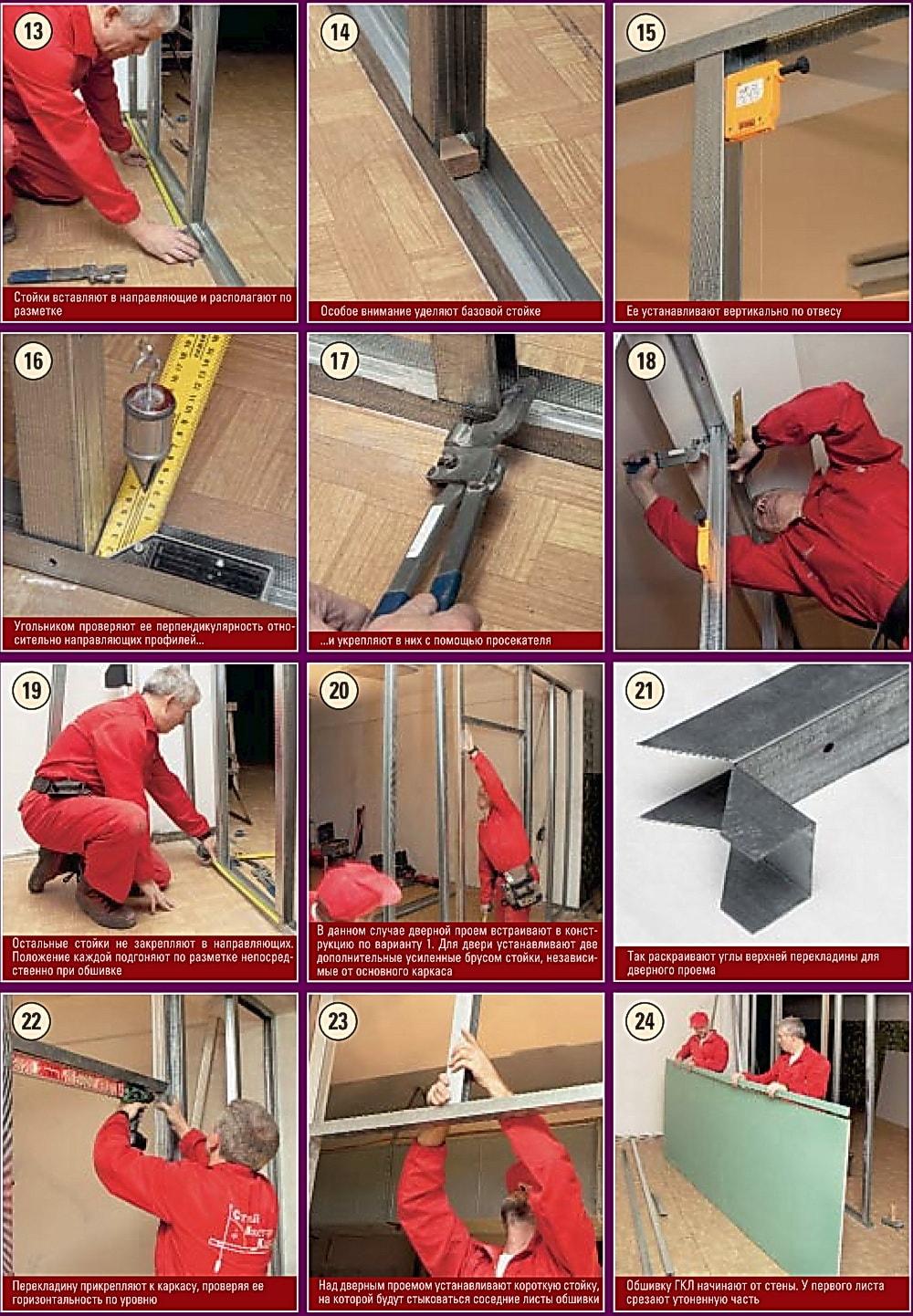 Как Сделать Перегородку из Гипсокартона с Дверью — пошаговая инструкция