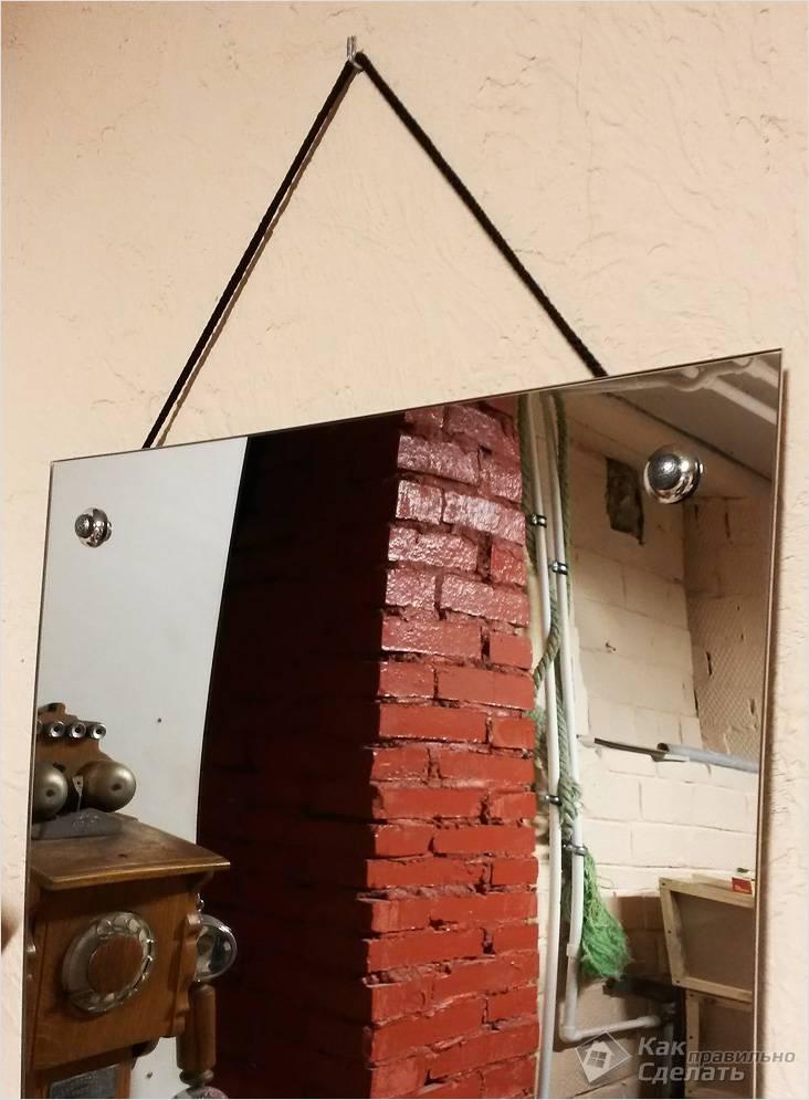Как Повесить Зеркало на Стену в Прихожей — этапы и методика
