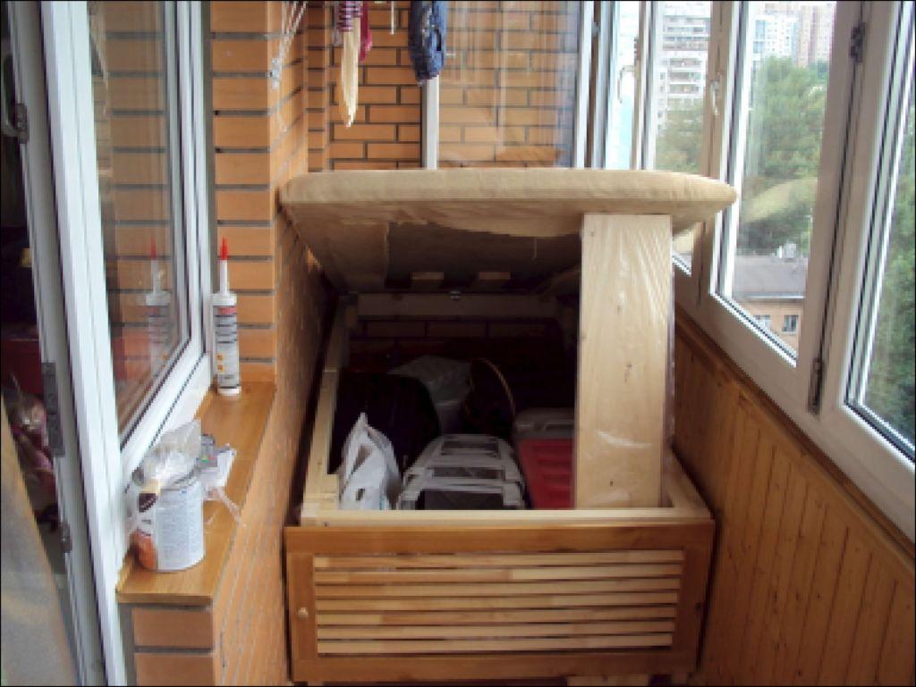 Диван на Балкон с Ящиком для Хранения - методы