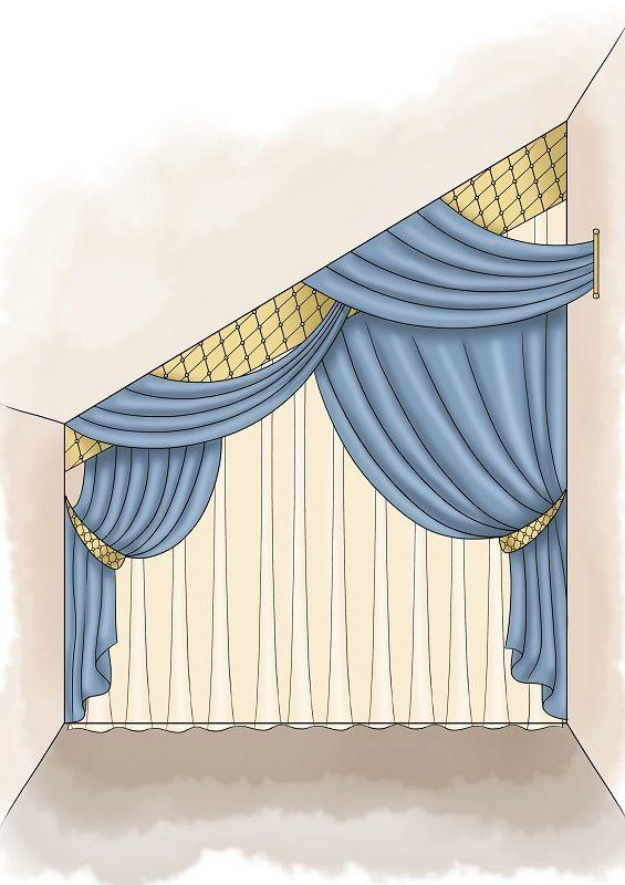 Шторы на Мансардные Окна со Скошенным Потолком - практические советы