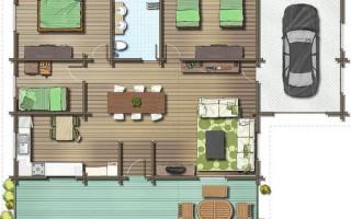 Проекты одноэтажных домов 8 на 8