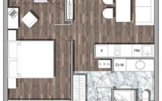Интерьер двухкомнатной квартиры 55 кв