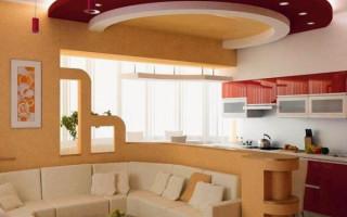 Кухня гостиная 13 кв м с диваном