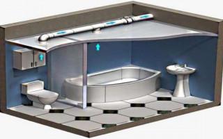 Особенности при планировки ванной комнаты в деревянном доме