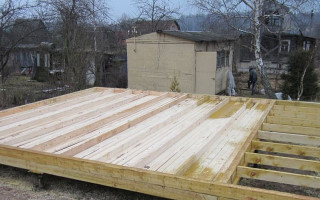 Перекрытие первого этажа каркасного дома на сваях схема