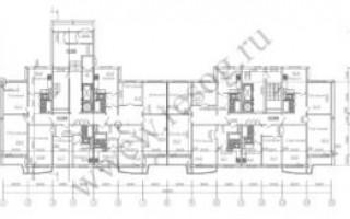 Серия П-44 — планировка с размерами