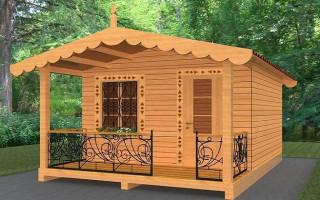 Дешёвый садовый дом из бруса 4 на 4