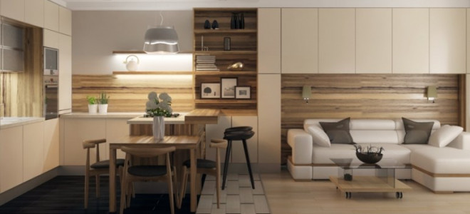 Дизайн проект кухни гостиной 25 кв м