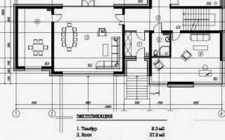Проект дома буквой Г: расположение внутренних помещений и функциональных пристроек