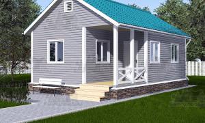 Каркасный дом 6 на 9 одноэтажный проект