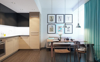 Дизайн кухни гостиной 17 кв