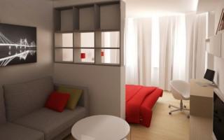 Дизайн однокомнатной квартиры 40 кв