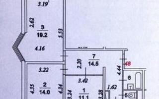 Планировка и размеры трехкомнатной квартиры в панельном доме серии П44-т и ее сравнение с квартирой серии 111-М
