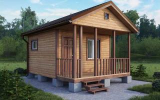 Дачный дом 4х4 с мансардой 3х2 балконом 3х1