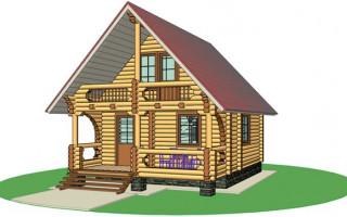 Проекты дачных домов с встроенной баней