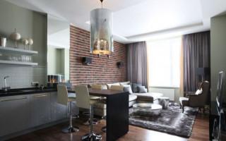 Кухня-гостиная 18 кв м с диваном