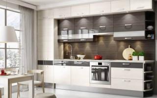 Дизайн прямой кухни площадью 3 метра
