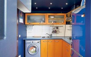 Планировка линейной и квадратной кухни 4 кв