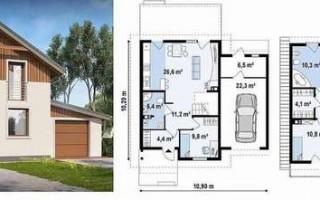 Фото планировки одноэтажного дома 10 на 10